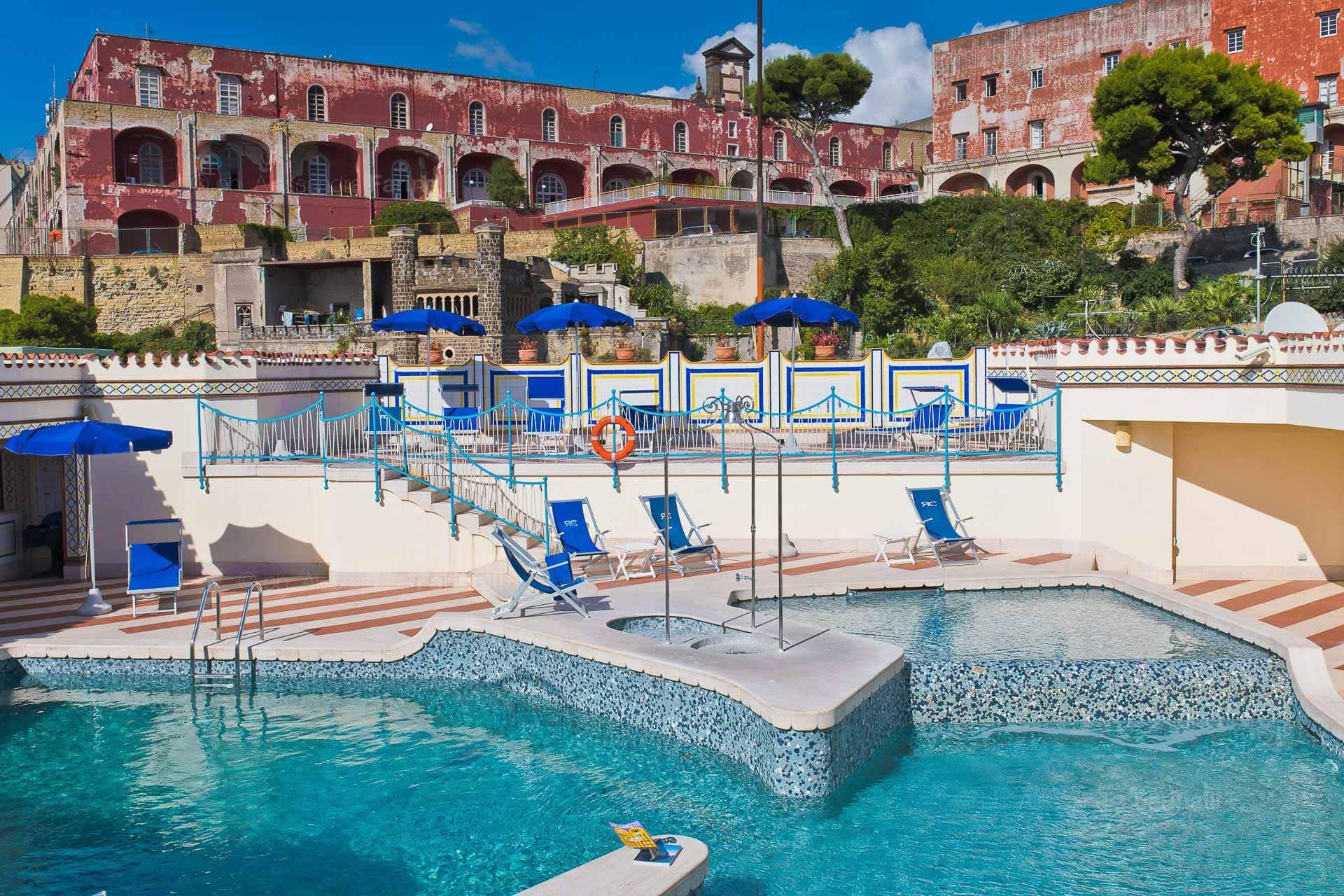 Fotografia panoramica piscina