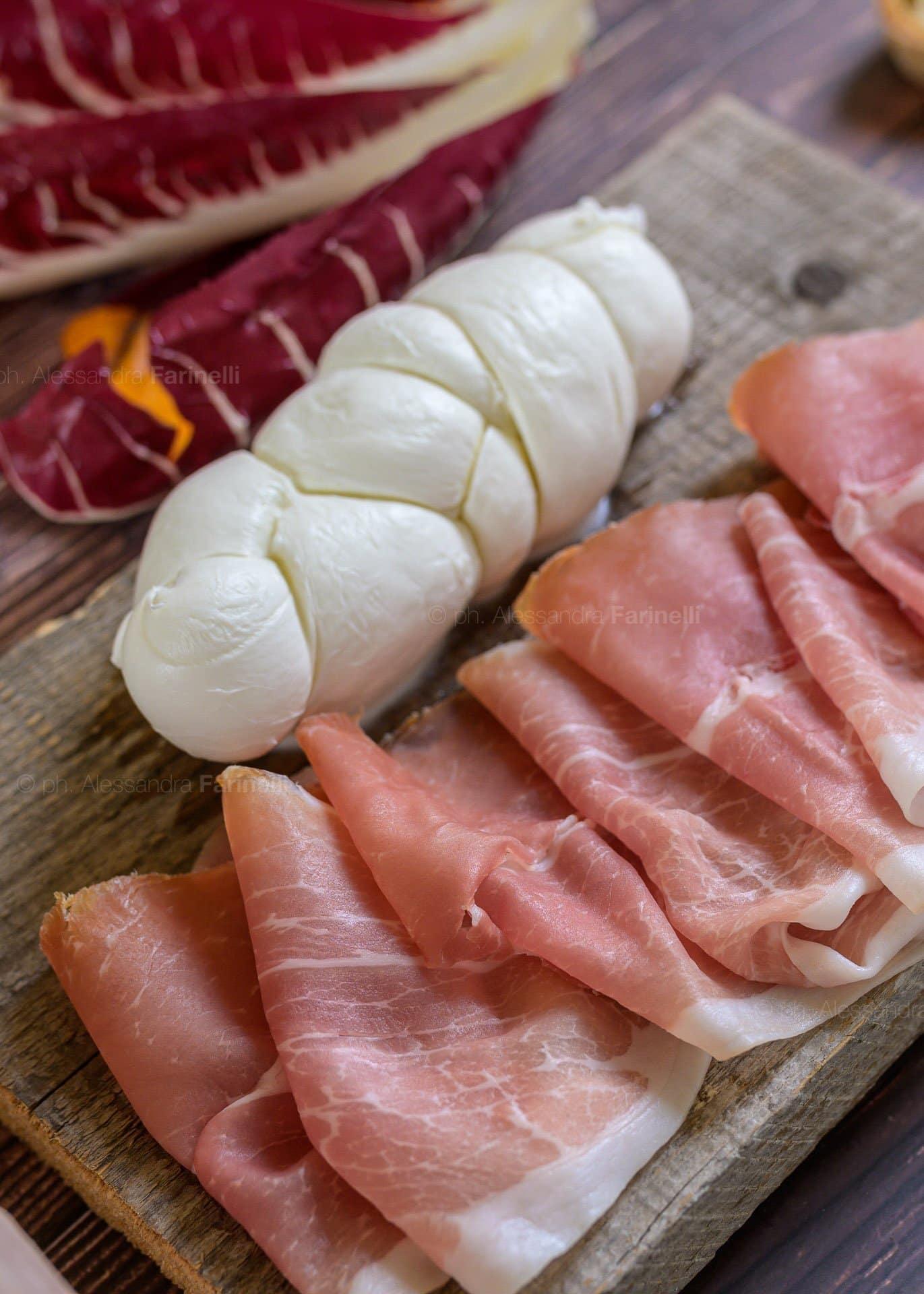 mozzarella Prosciutto foto